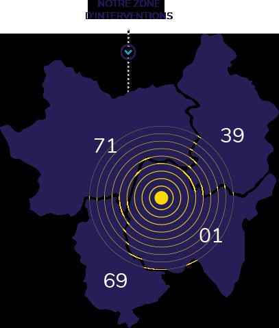 Carte des lieux d'intervention